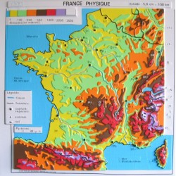 Carte de France physique