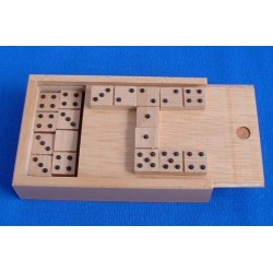 Jeu de dominos en bois - points en relief