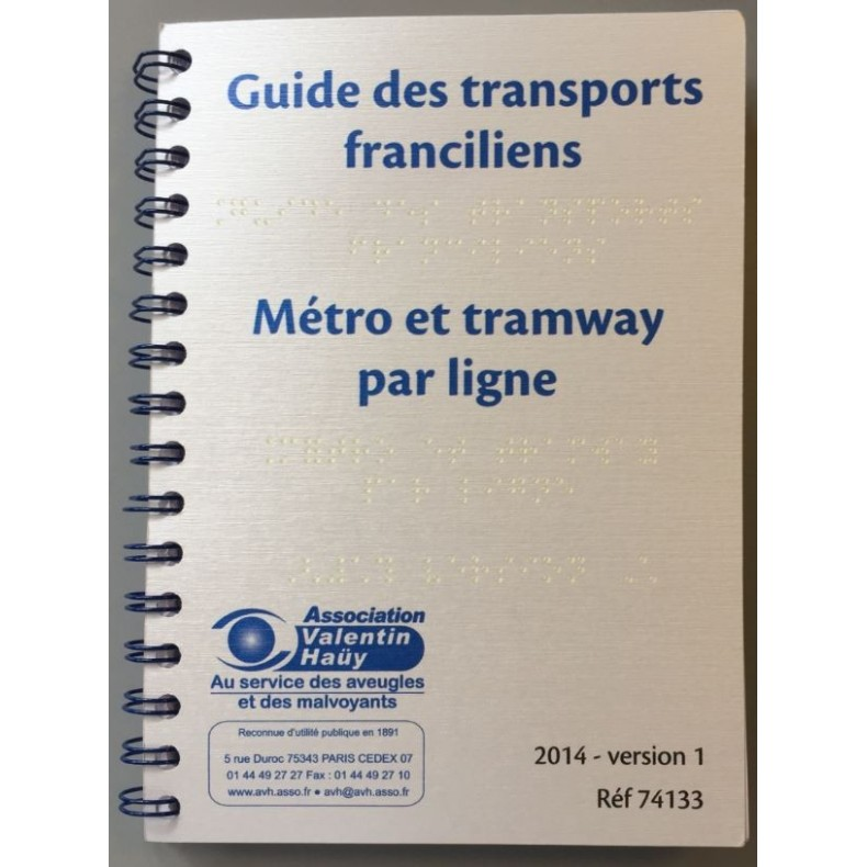 GUIDE DU METRO DE PARIS ED. 2014 BRAILLE INTEGRAL