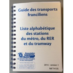 GUIDE ALPHABETIQUE DES TRANSPORTS TRANSILIENS ED. 2014