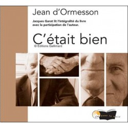 C'était bien (biographie) de Jean d'Ormesson - Cd audio